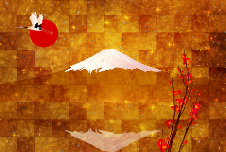 Fuji greeting cards background Illustration