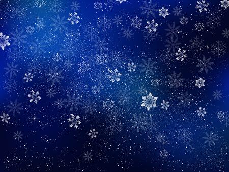 neige noel: Noël fond de neige Illustration