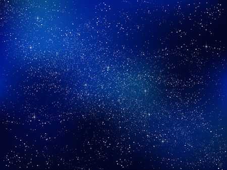 cielos azules: Estrellas del cielo nocturno de fondo Vectores