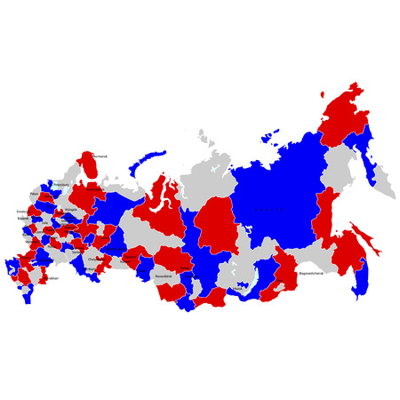 Russia map countries Vector