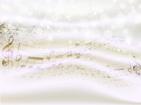 musical score: Note background musical score Illustration