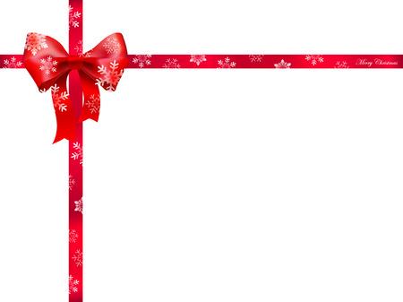 Christmas ribbon background
