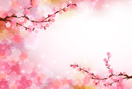 Plum greeting cards background