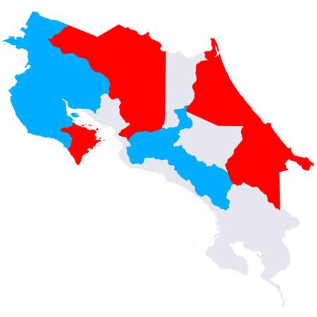 costa rica: Costa Rica map countries Illustration
