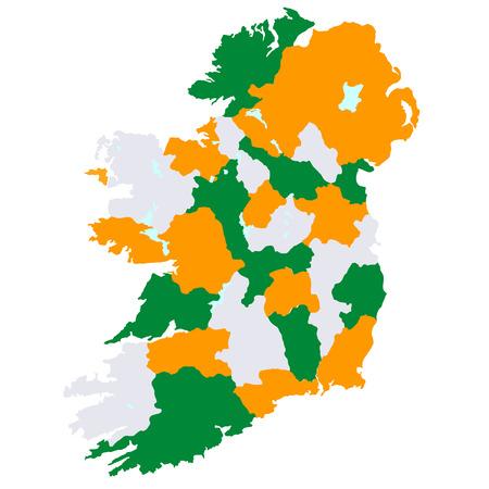 ireland cities: Ireland map countries