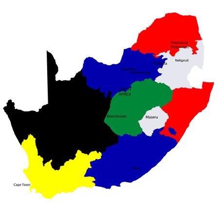 남아프리카 공화국지도 국가 일러스트