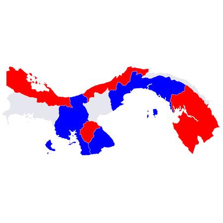 bandera panama: Panam� pa�ses mapa Vectores