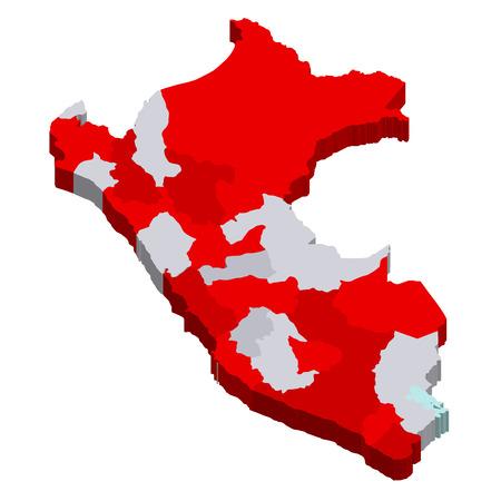 peru map: Peru map countries Illustration