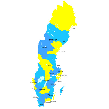 sweden map: Sweden map countries