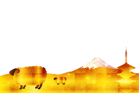 storied: Sheep greeting cards background Illustration