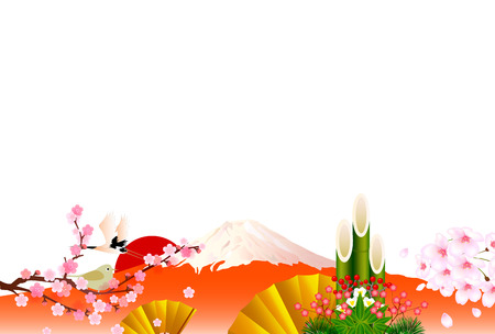 Fuji New Year background Vector