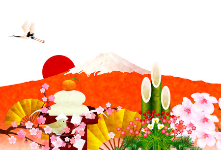 kadomatsu: Fuji New Year background Illustration