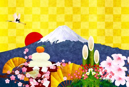 Fuji biglietti di auguri di fondo