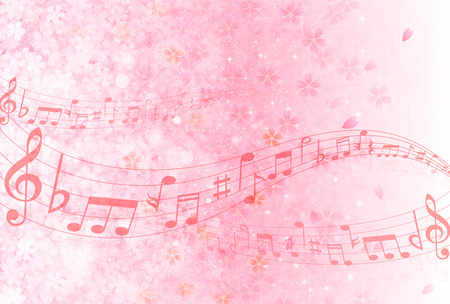 Cherry background music Banco de Imagens - 32022786