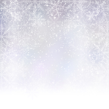 Light snow background Vector