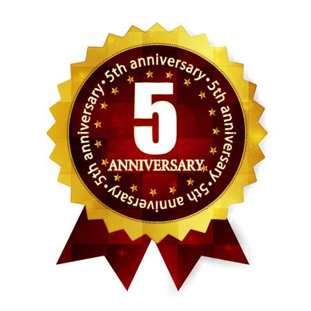 fifth: Fifth anniversary medal frame