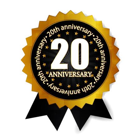 20th: 20th anniversary medal frame