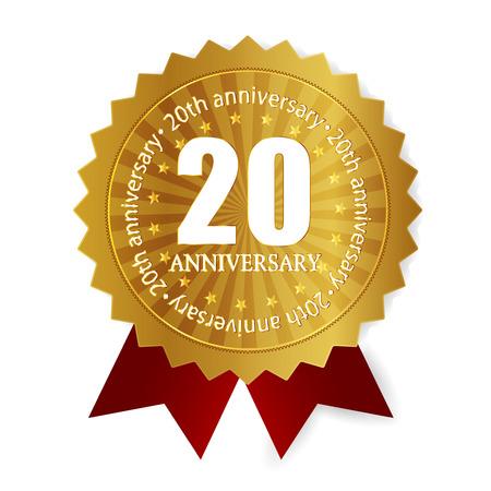 20th anniversary medal frame Vector