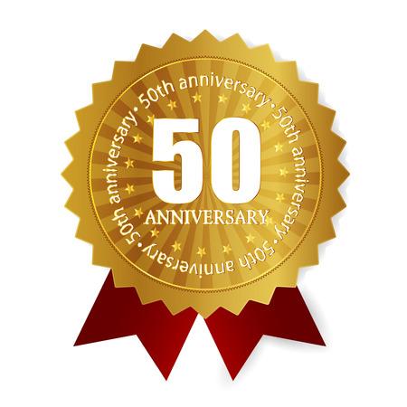 5th: 50th anniversary medal frame Illustration