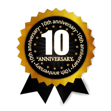 10th: 10th anniversary medal frame