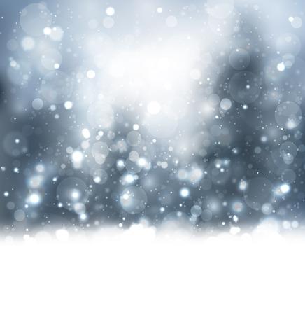 Lichte sneeuw achtergrond Stock Illustratie