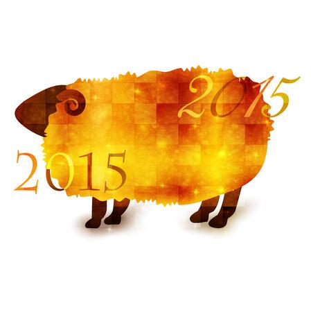 Sheep greeting cards 2015 Vector
