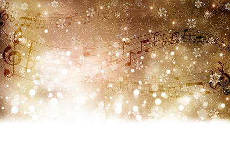 partition musique: Le score Musique neige