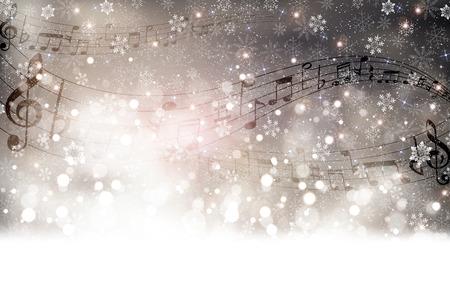 partition musique: Music Score neige