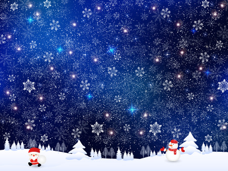 Snow Christmas background Ilustracja