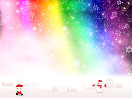 Snow Christmas background Vector