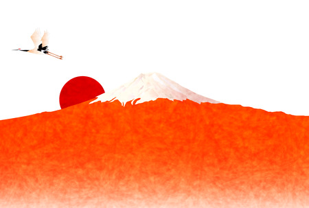 new year s: Fuji New Year \ s greeting card background