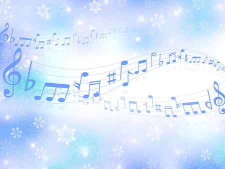 Musik Hintergrund Schnee Standard-Bild - 33634533