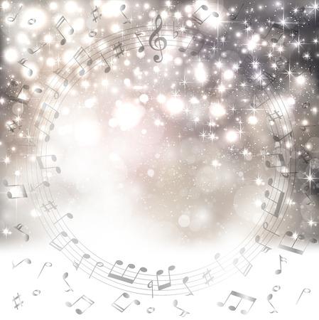Musik Hintergrund Schnee Standard-Bild - 33634547