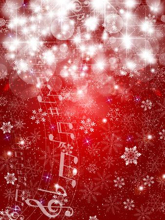 Musique neige fond Banque d'images - 33634585