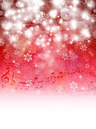 Music snow background
