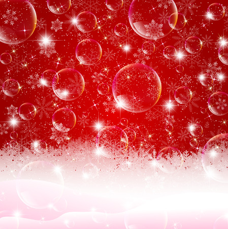bubble background: Snow soap bubble background