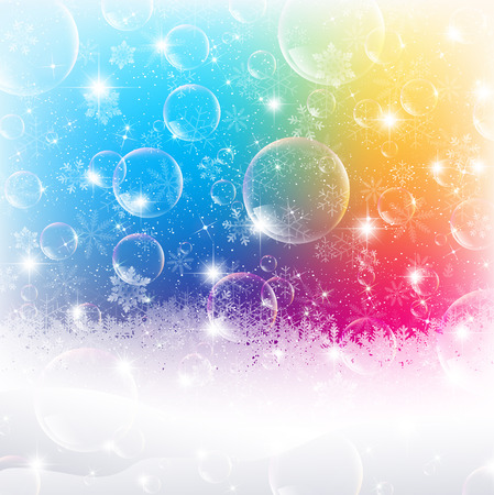 bubble background: Neve bolla di sapone sfondo