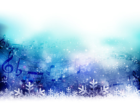 Note snow background