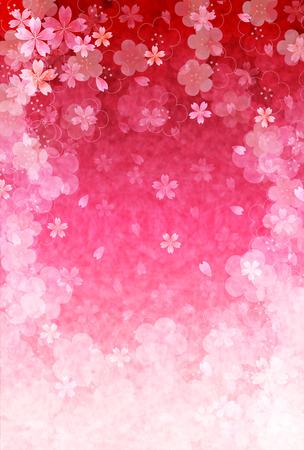 Cherry plum greeting cards Illustration