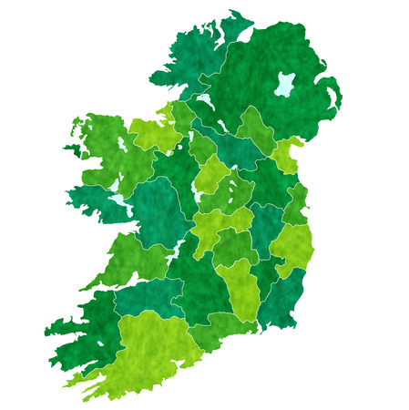 pape: Ireland country map
