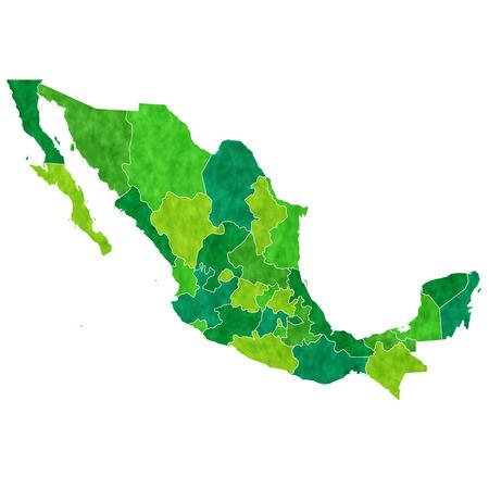 メキシコの国の地図