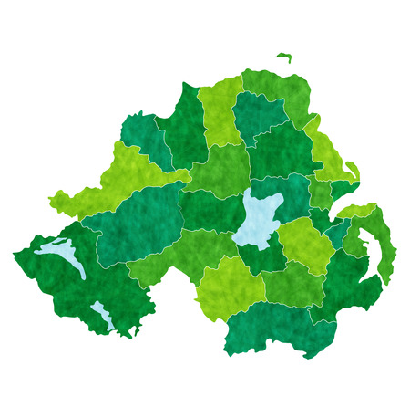 northern: Northern Ireland country map Illustration