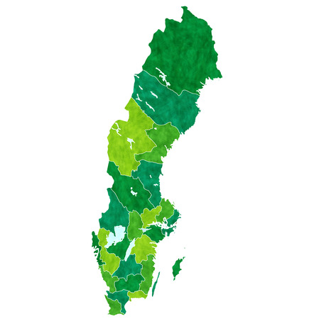 Sweden country map Illustration