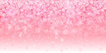 pink tree: Cherry blossom background