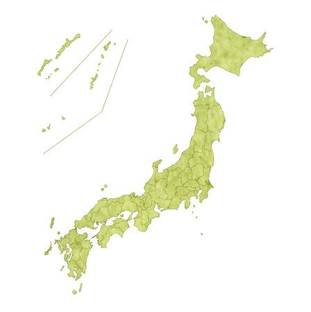 Japon Carte pays Banque d'images - 35110642