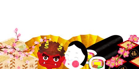 Setsubun demon background Vector