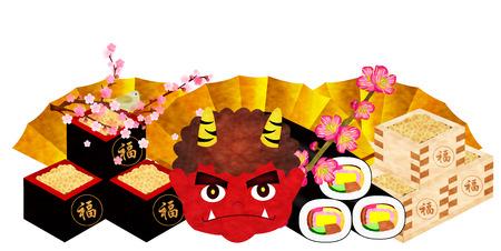 winding: Setsubun demon lucky direction winding