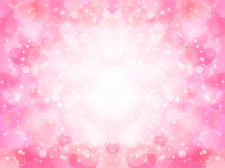 Valentine Hart Achtergrond Stock Illustratie
