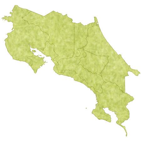 costa: Costa Rica map countries Illustration