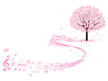 桜メモ背景